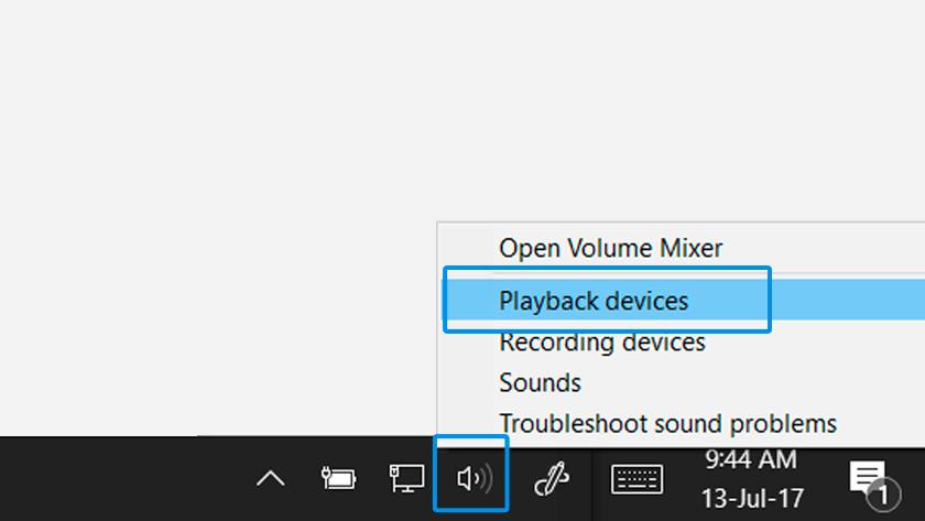 Configurer le périphérique audio