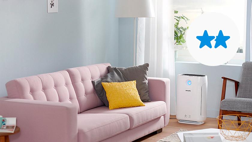 Luchtreiniger met filters woonkamer