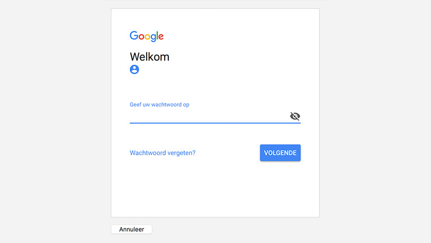 Apple Mail Gmail wachtwoord invoeren