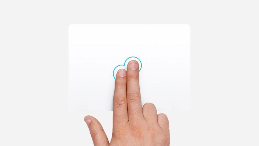Pravé tlačítko myši Apple MacBook