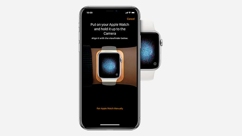 Diriger l'appareil photo vers l'Apple Watch