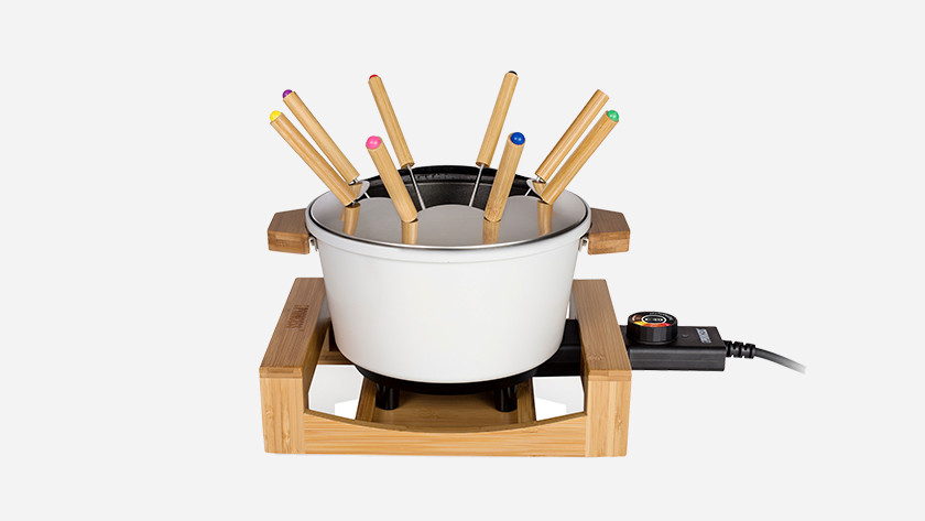 Ceramic fondue pot