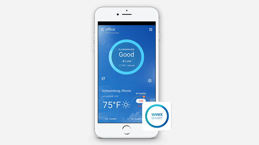 Besturen met Winix Smart App