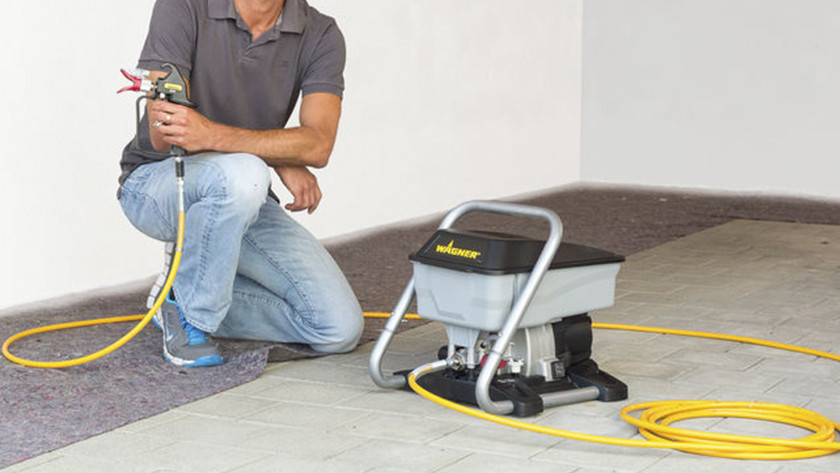 Operating pressure of the paint sprayer