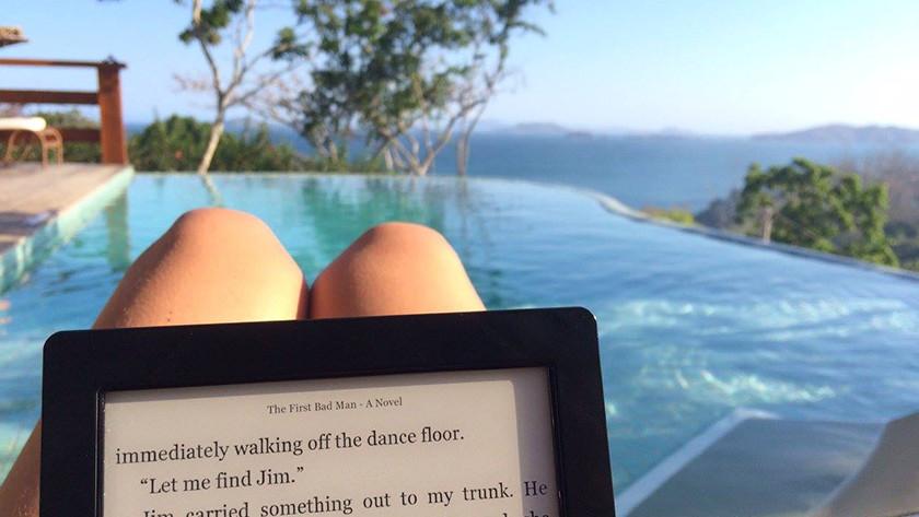 e-reader zwembad