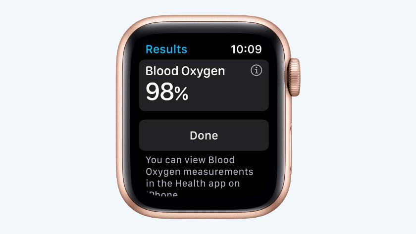 Apple Watch Series 7 saturatiemeter