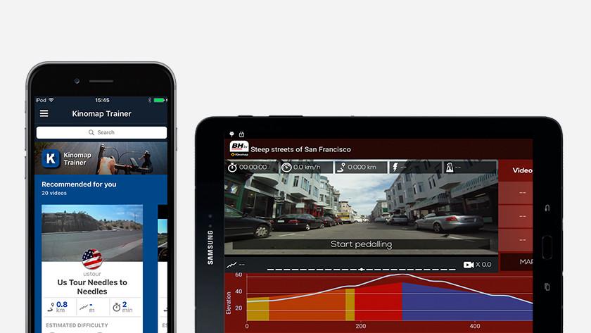 Kinomap app crosstrainers