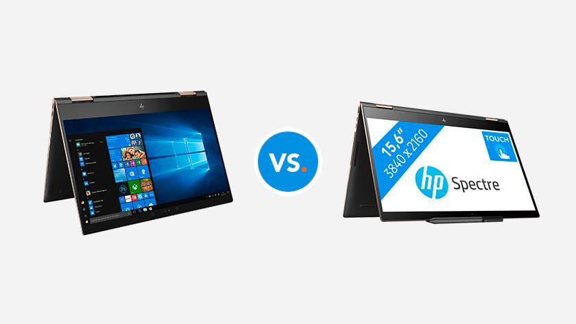 Deux ordinateurs portables HP 2-en-1 pliés.