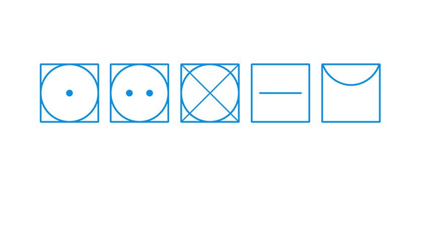 Symboles de séchage sèche-linge