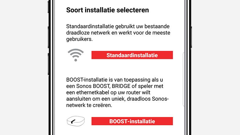 Stap 3: selecteer een setup optie