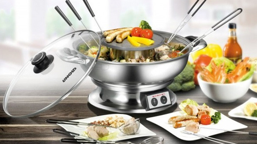 Chinese fondue made of stainless steel