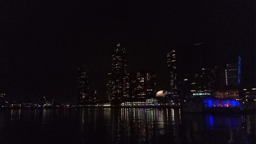Night photo with a lower-quality camera