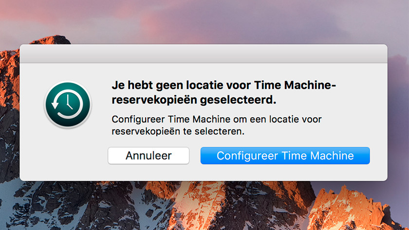 Configurer Apple Time Machine
