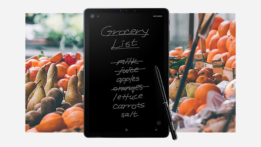 Samsung Galaxy Tab S4 S Pen Screen Off Memo