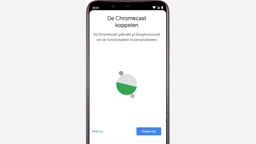 Koppel Chromecast aan Google Home