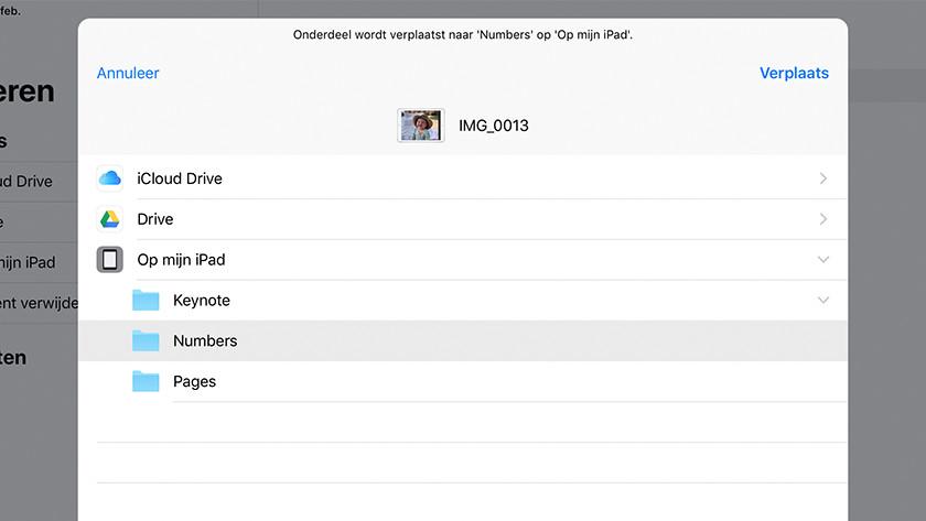 iCloud Drive-bestanden verplaatsen