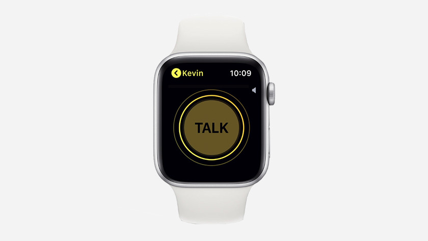 Walkie talkie op Apple Watch