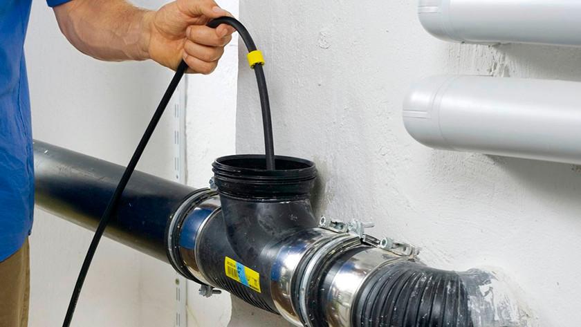 Machine à laver déboucher évacuation avec nettoyeur d'égout à haute pression