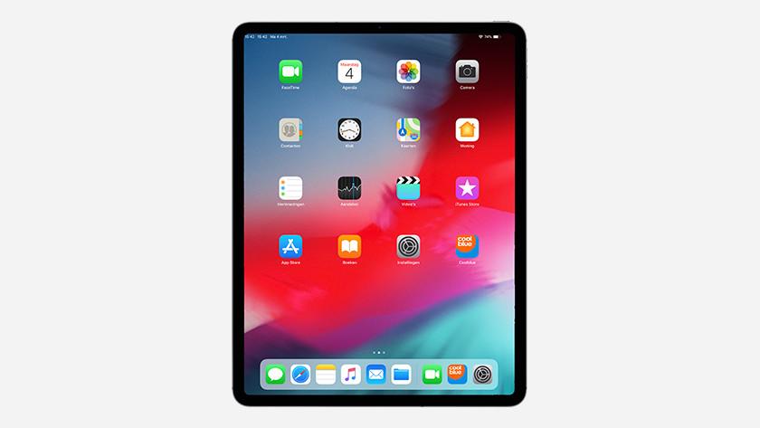 Het dock op Apple iPad