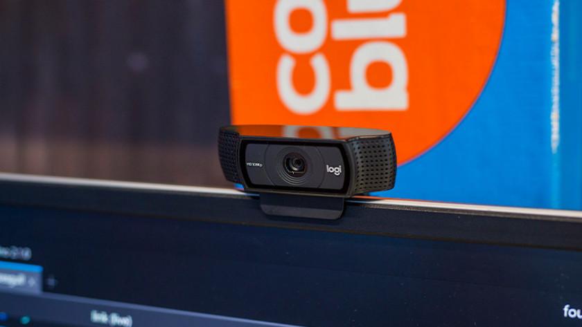 Webcam op scherm