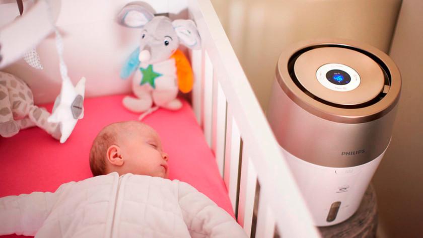 Bevochtiger babykamer