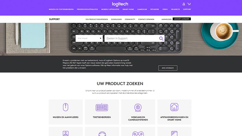Ga naar de Logitech website