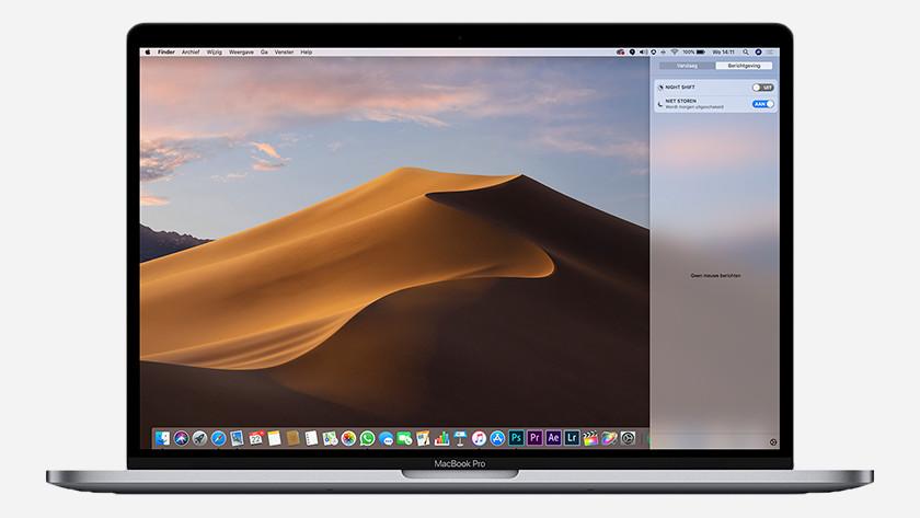 Niet Storen modus op MacBook