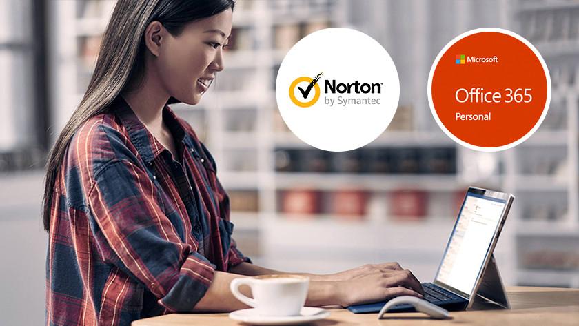 Work computer 2-in-1 device laptop Norton Microsoft Office 365 program