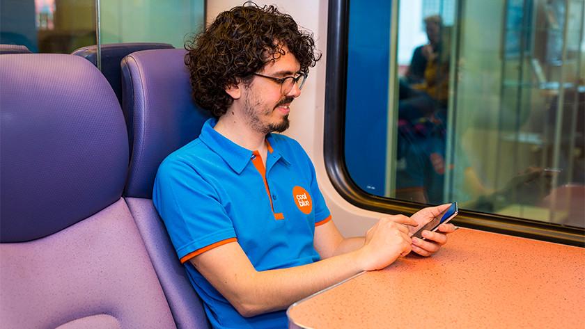 Snel internetten met 5G buiten trein