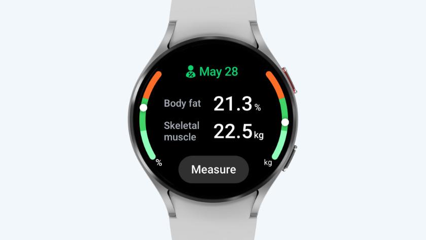 Samsung Galaxy Watch4 lichaamsanalyse