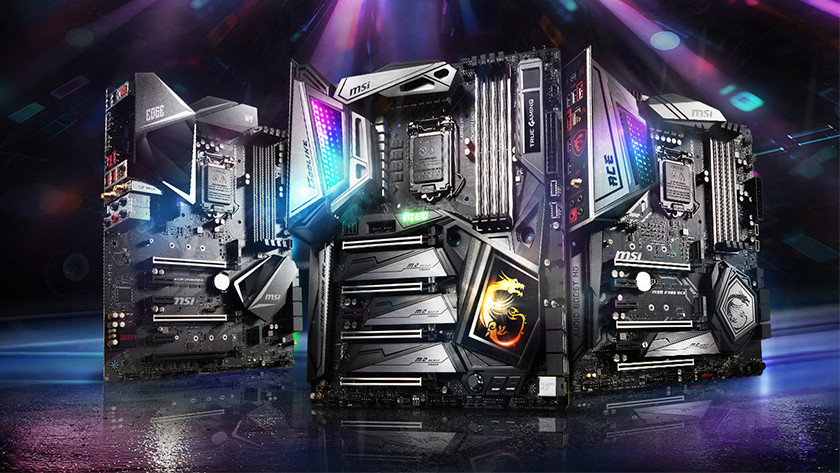 MSI motherboard with RGB LED lighting
