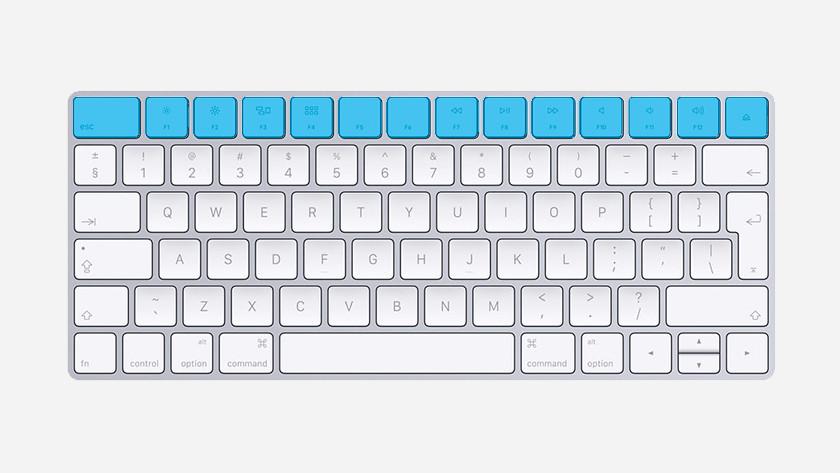 Funkční klávesy Apple MacBook