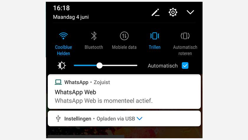 Smartphone WhatsApp web afsluiten
