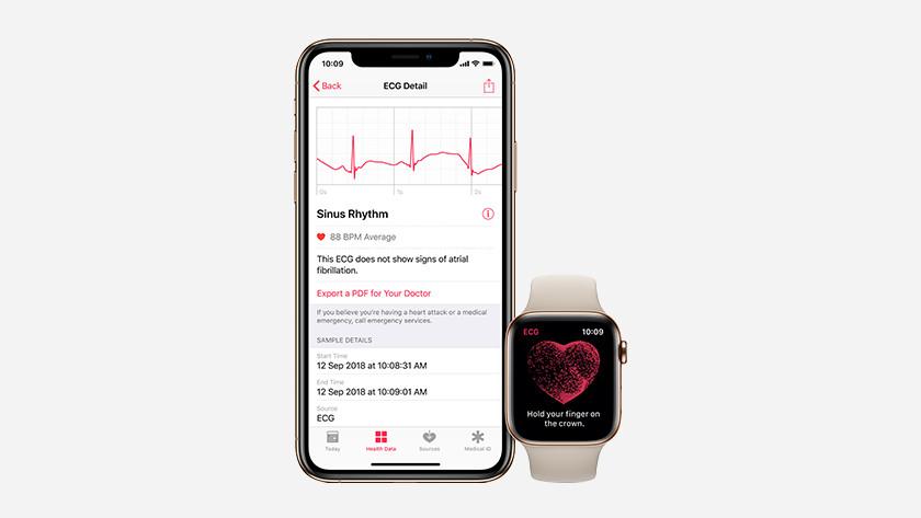 Capteur de fréquence cardiaque électrique ECG Apple Watch Series 5