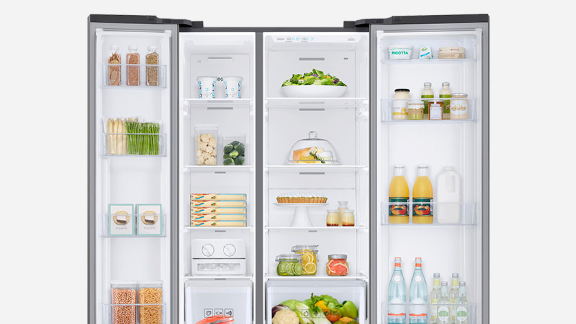 Side-by-side American fridge