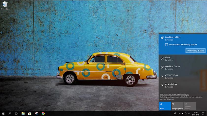 Afbeelding wifi menu aansluiten Windows 10