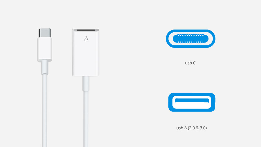 Apple usb C naar usb A converters
