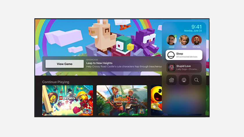 Makkelijker tussen profielen wisselen in Apple Arcade tvOS 14 Apple TV