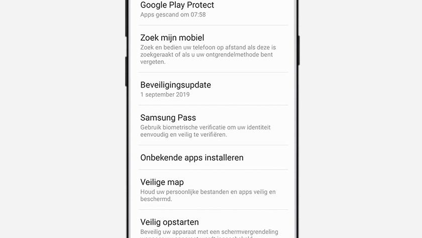 beveiligingsupdates smartphone