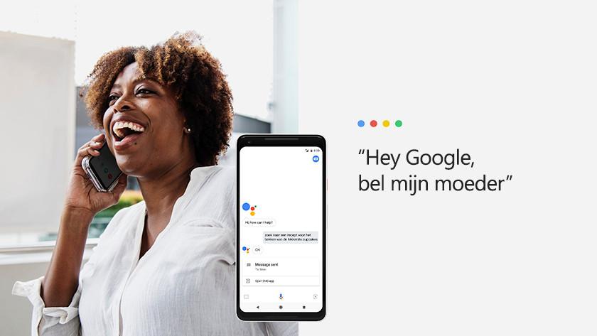 Bellen en berichten met Google Assistent