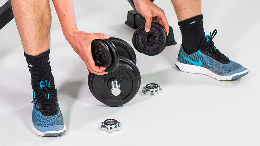 Different dumbbell weights