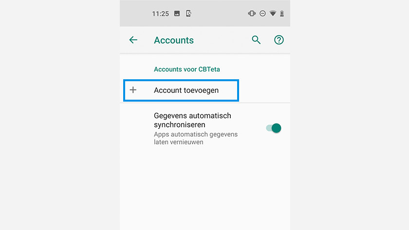 Android Google account toevoegen