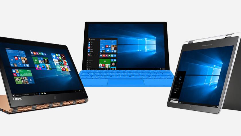 Drie 2-in-1 laptops.