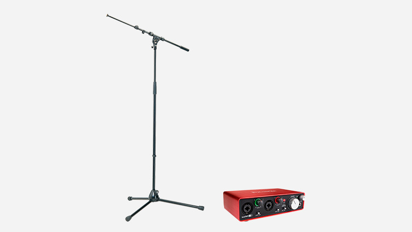Support pour microphones