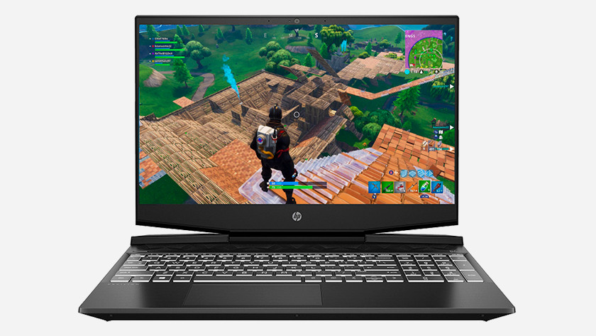 HP laptop met Fortnite.