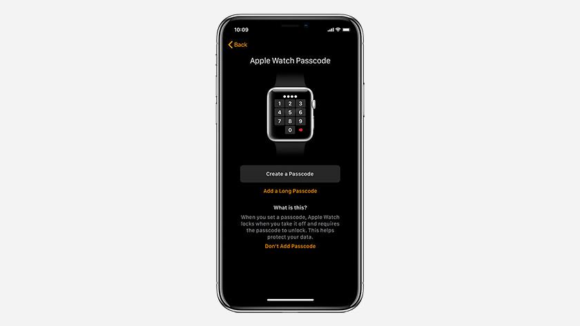 Code d'accès Apple Watch