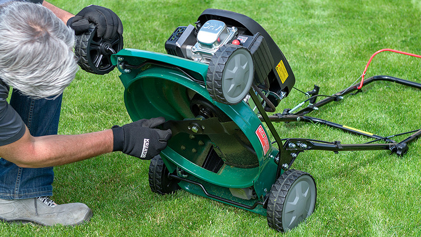 Onderhouden grasmaaier