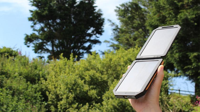Solar powerbank opladen