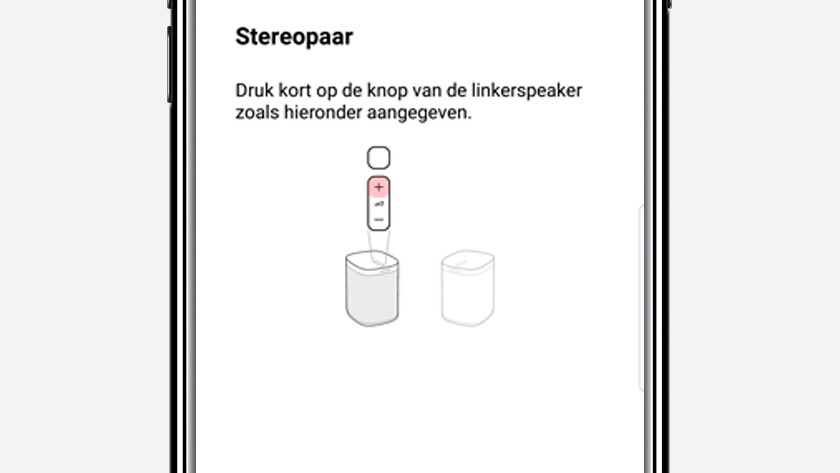 Stap 10: geef aan welke speaker links is