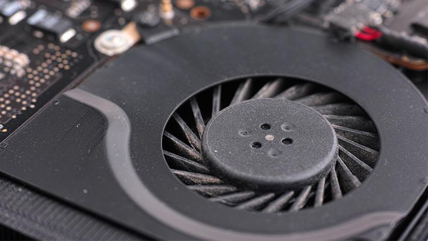Ventilator in een laptop
